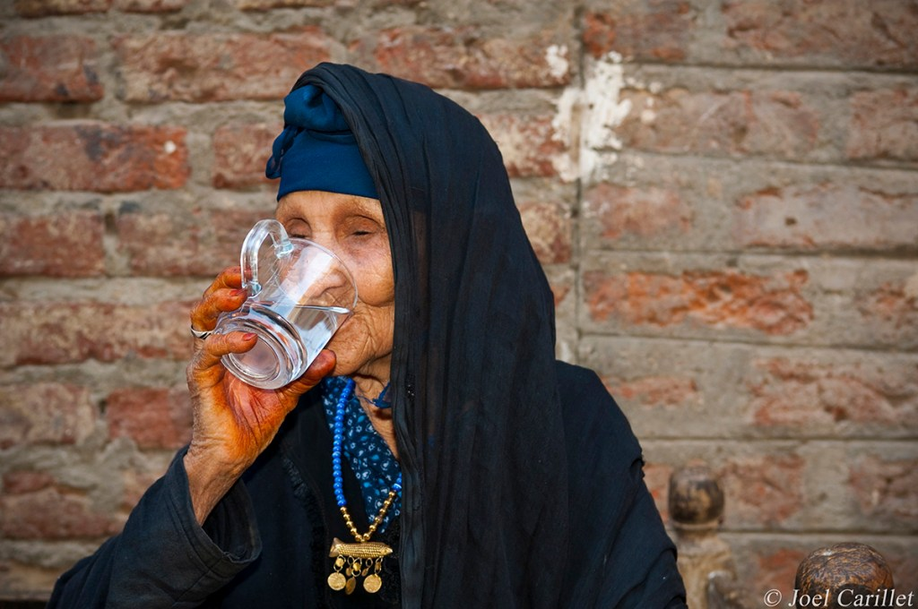 Old woman in Luxor Egypt