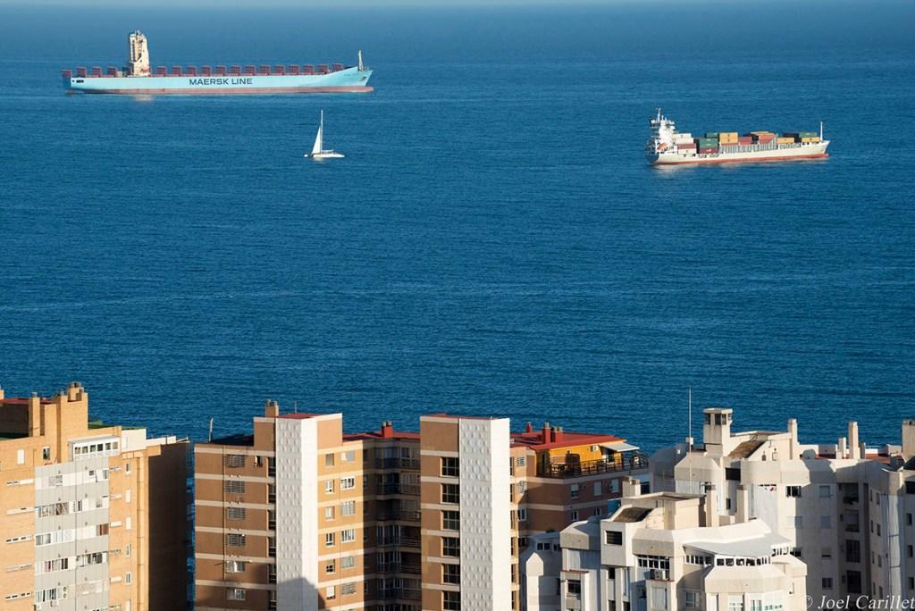 Maersk ship in Malaga, Spain