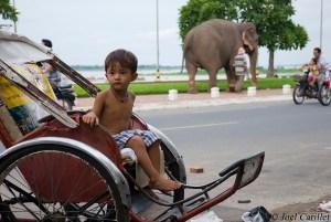Boy in Phnom Penh, Cambodia
