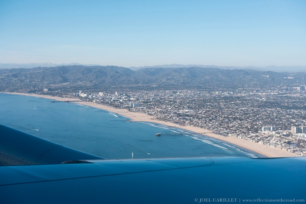 California coastline in Santa Monica and Venice Beach in Los Angeles County