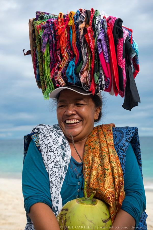 Woman in Padangbai, Bali, Indonesia