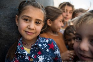 Yazidi children at Sharya IDP camp