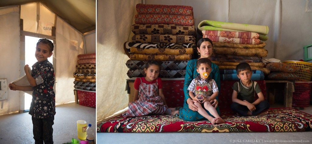 Yazidis at Sharya IDP camp in northern Iraq