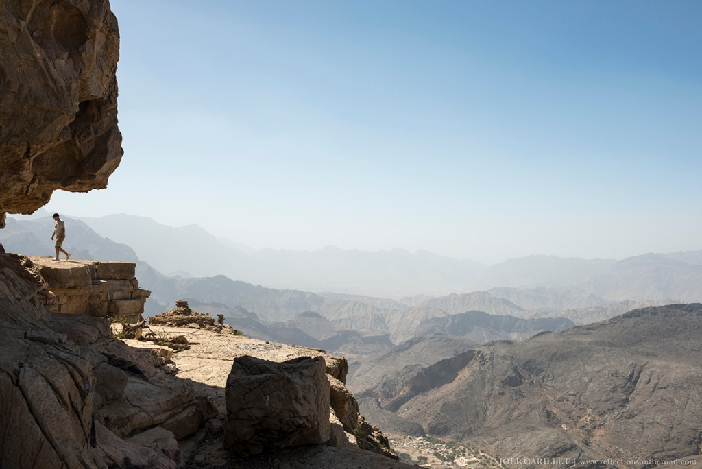 The mountainous desert landscape of Oman