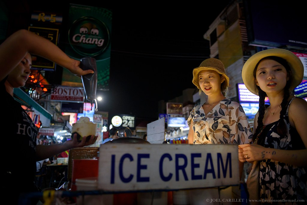 Coconut ice cream on Khao San Road