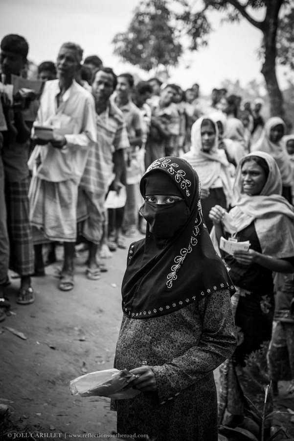 Rohingya refugees at Chakmarkul refugee camp, Bangladesh