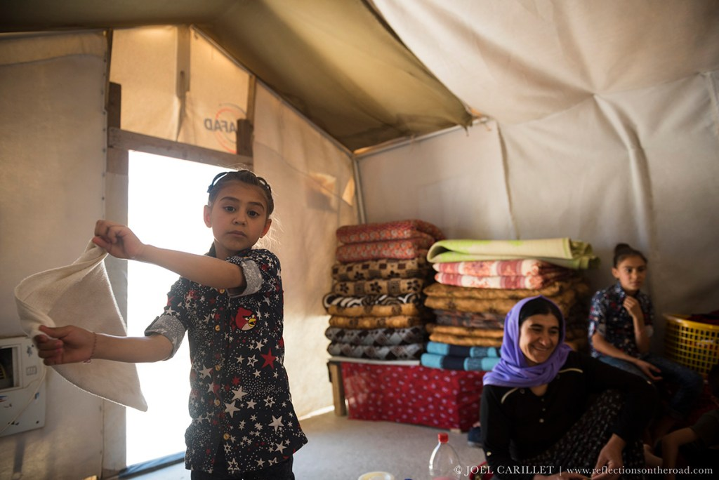 Yazidi girl in Sharya, Iraq