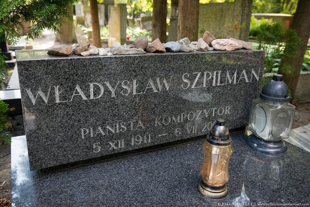 Grave of Władysław Szpilman in Warsaw, Poland