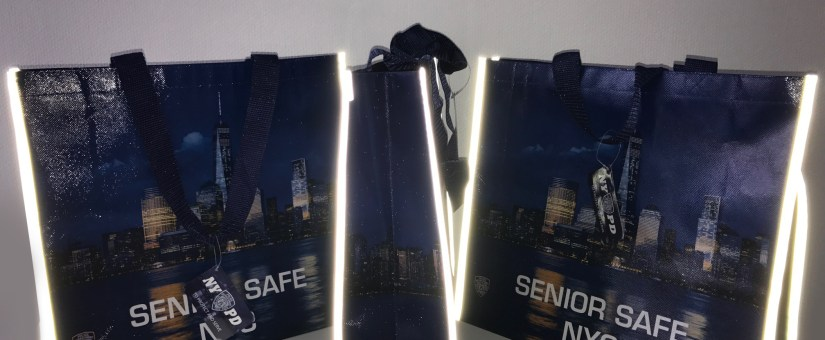 Custom Reflective Bags by NYPD Keeps Seniors Safe at Night