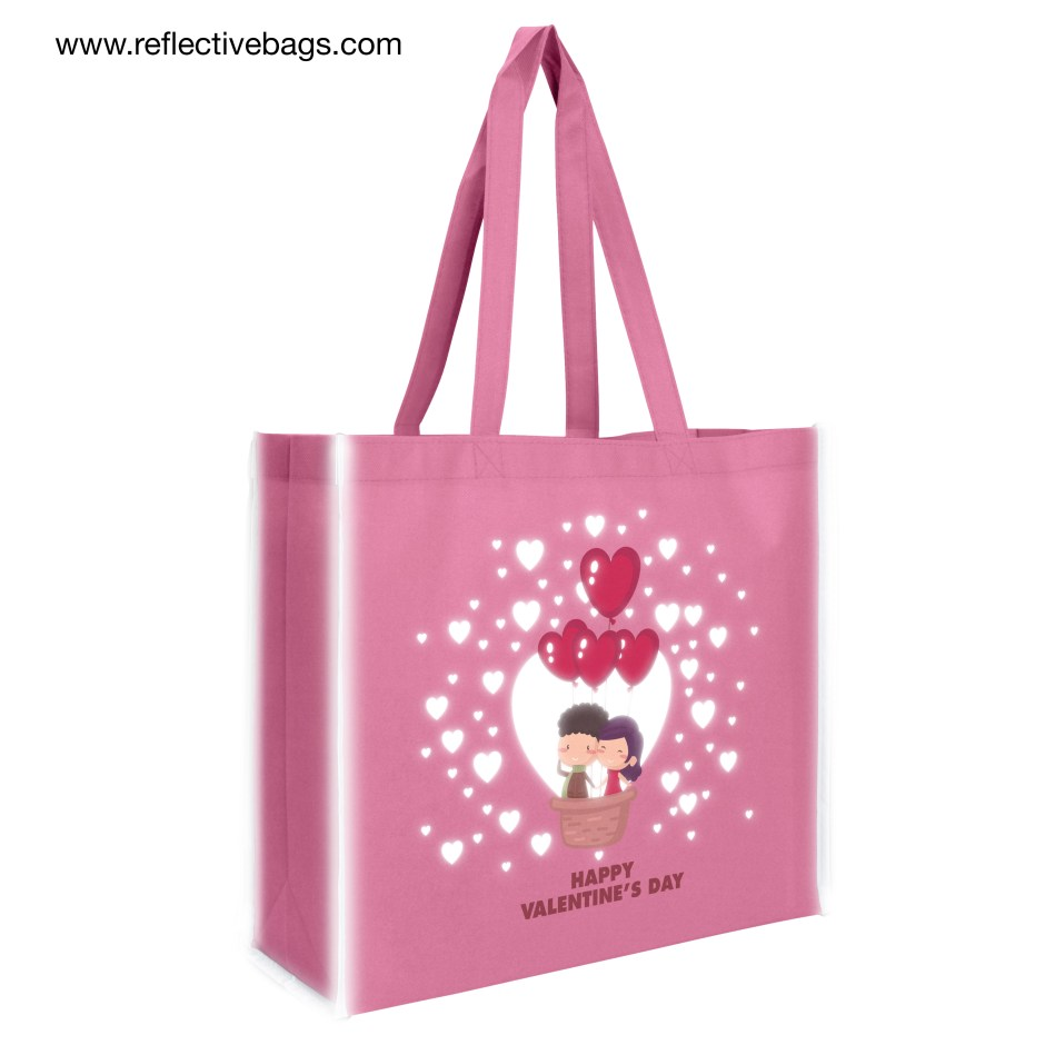 Printing Reflective Graphics on Promotional Shopping Tote Bag