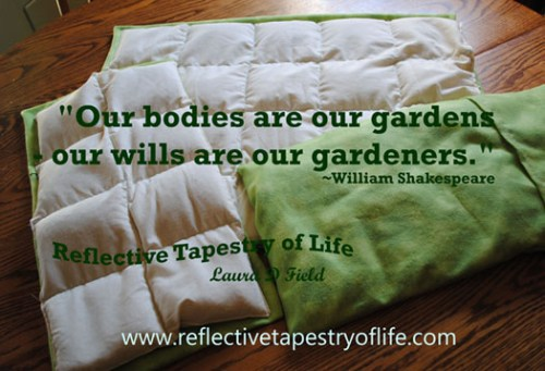 """Our bodies are our gardens - our wills are our gardeners."" ~William Shakespeare Therapy 3-pc Set created by Laura"