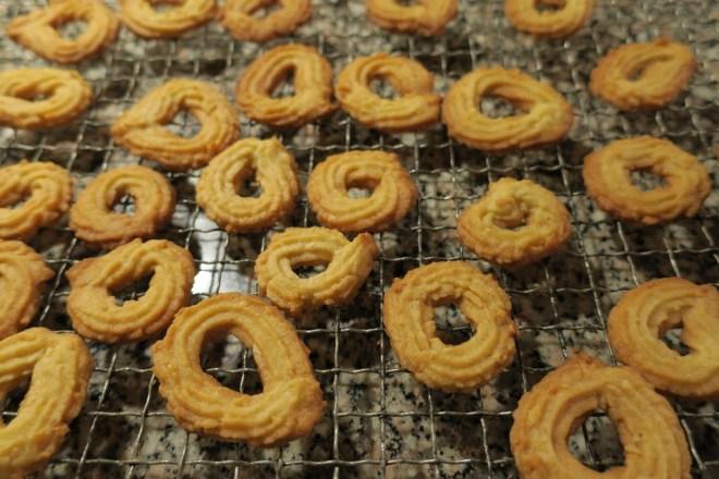 vanillekranse på bageristen