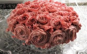 Chokoladekage med cupcake-icing