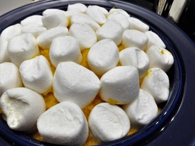 Kartoffelmos med marshmallows