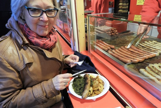 Grønkål og bratwurst