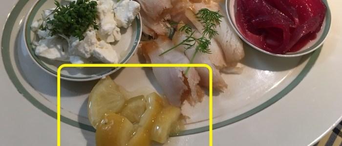 Saltet citron til hellefisk