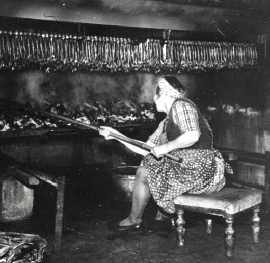 Røgede sild i gamle dage