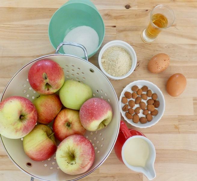 Æbletærte - ingredienser til fyldet