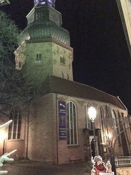 En af kirkerne i Stade