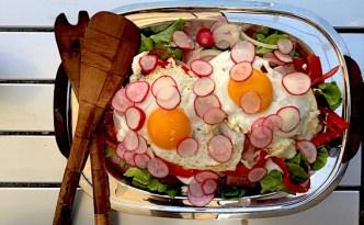 Sommerlig tysk inspireret salat