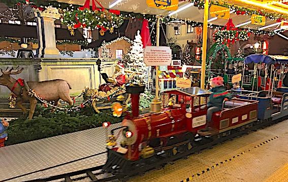Juletoget på julemarkedet i Lüneburg
