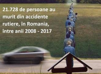 Peste 21 de mii de oameni au murit în accidente rutiere, în România, în ultimii 10 ani