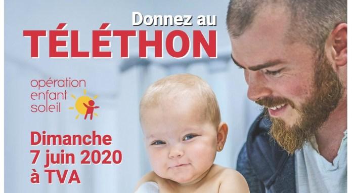 Affiche officielle du 33e Téléthon Opération Enfant Soleil