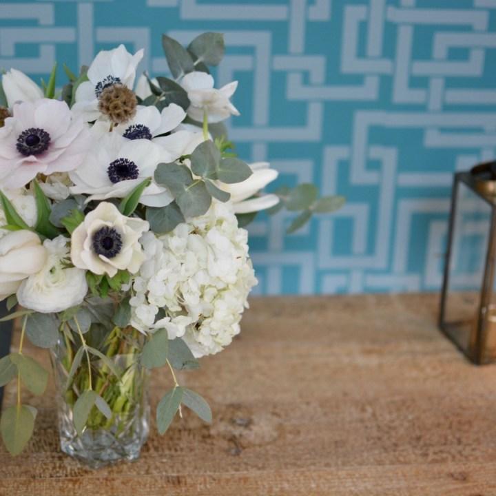 snow white bouquet de fleurs blanc vert a livrer paris fleuriste reflets fleurs
