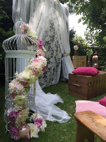 Photo Booth bohème romantique vintage mariage reflets fleurs
