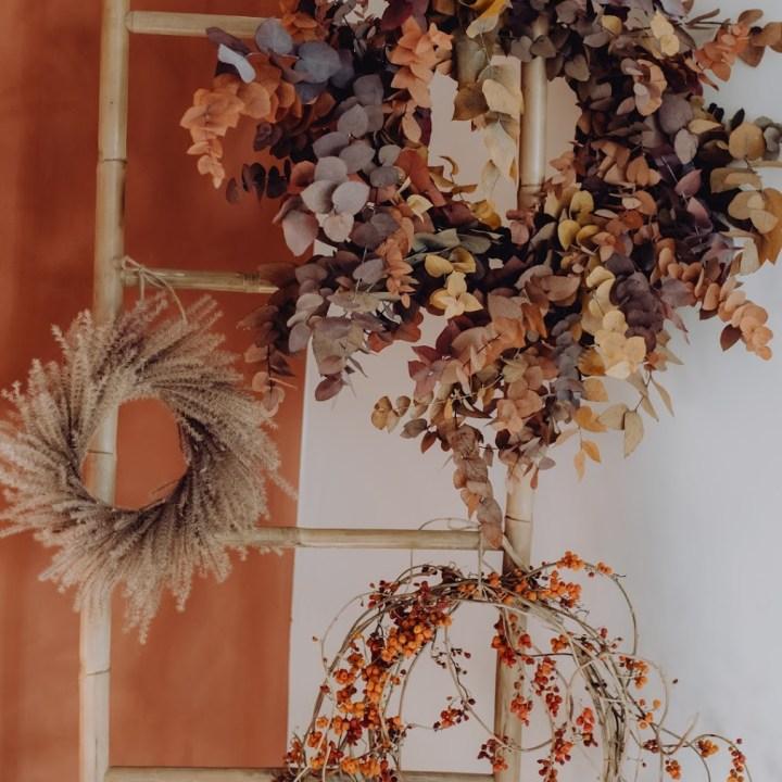 Couronne-eucalyptus-mischanthus-automne-reflets-fleurs-novembre