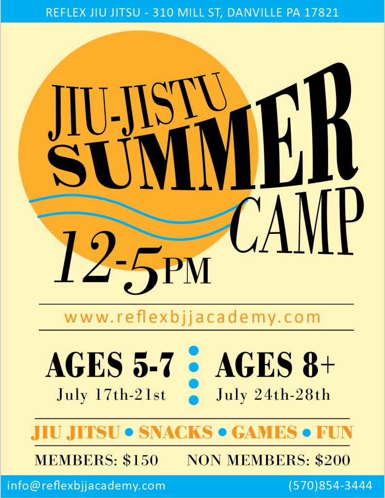 reflex kids jiu jitsu summer camp 2017