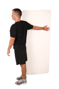 wall stretch for pecs massage therapy in reading and healthy posture