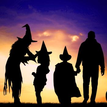 healthy halloween family