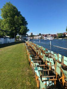 Henley Royal Regatta Stewards Enclosure before the crowds arrive