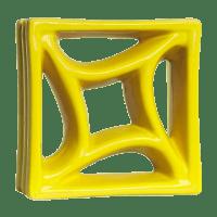 Elemento Vazado Esmaltado Estrela do Mar Amarelo Canário