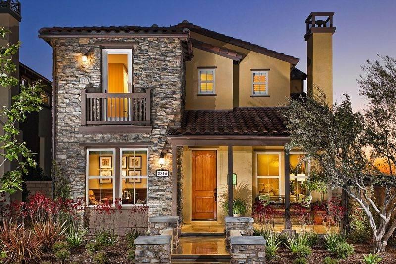 Fachadas de ladrillo y piedra con estilo r stico - Casas de una planta rusticas ...
