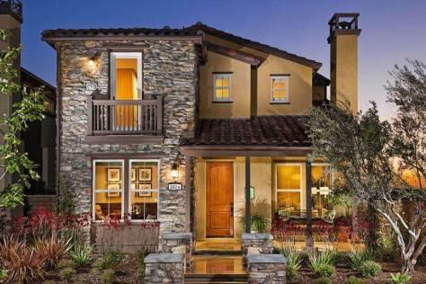 Fachadas de ladrillo y piedra con estilo r stico - Colores para fachadas de casas rusticas ...