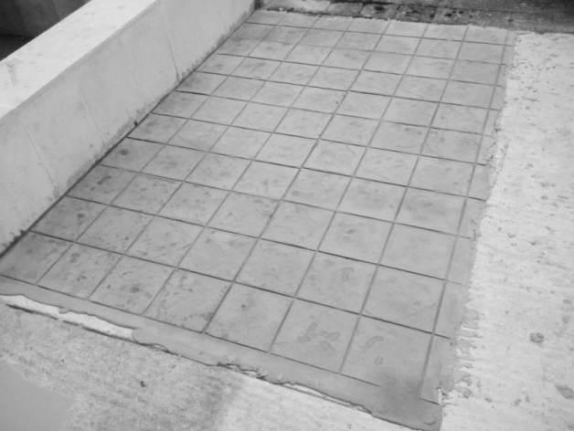 hormigón impreso imitación piedra