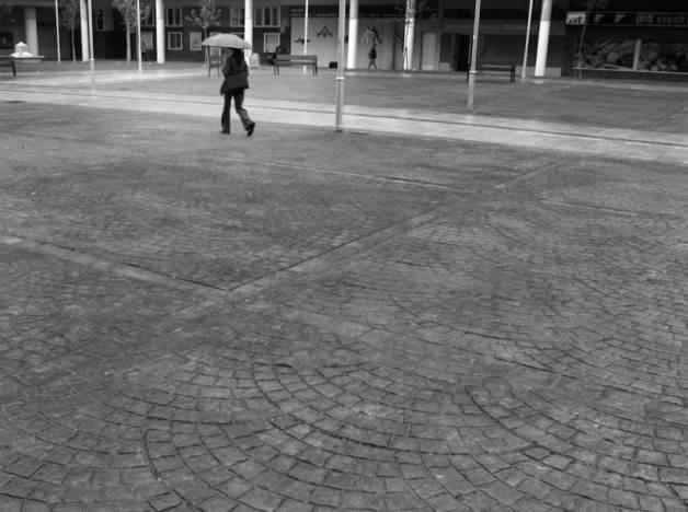 hormigón impreso imitación piedra en una calle