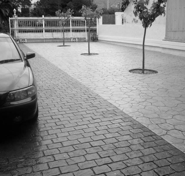 hormigón impreso en calle