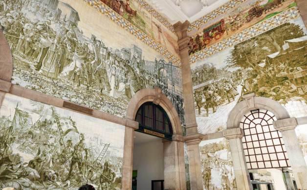 mural con azulejos artísticos