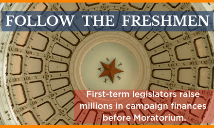 Follow the Freshmen: Campaign Finances and the Sprint to Session