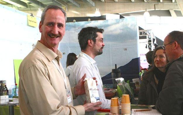 Öko-Melkburen am Stand der Regionalwert AG - wo Bürger ihr Geld in Biolandwirtschaft anlegen können