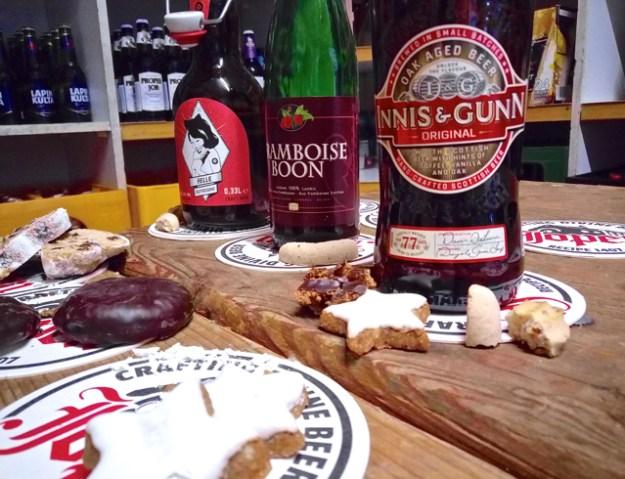 Bis hierhin haben alle Biere zu einem Keks gepasst, das Oak Aged Beer von Innis & Gunn zu den meisten