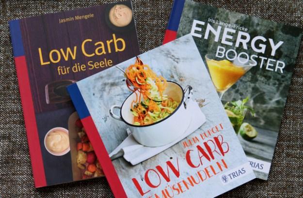 Alle drei Low-Carb Bücher auf einen Blick #triasbloggerkitchen