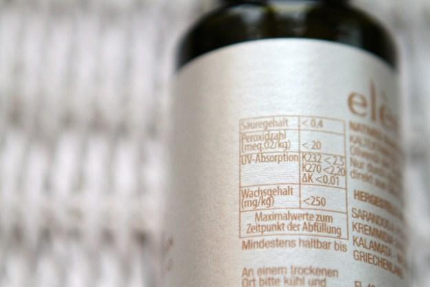 Angaben über Säure- und Wachsgehalt oder Peroxide - interessante Hinweise zum Vergleich mit anderen Ölen