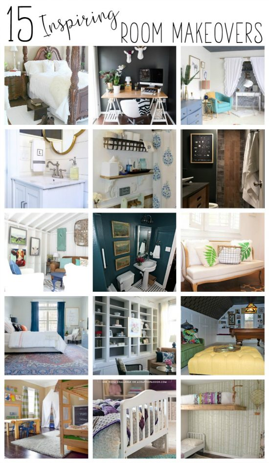 I love looking at room makeovers - it always gives me ideas that I can use in my own home. These 15 rooms are pretty amazing!