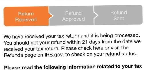 2016 Refund Status - Online Refund Status