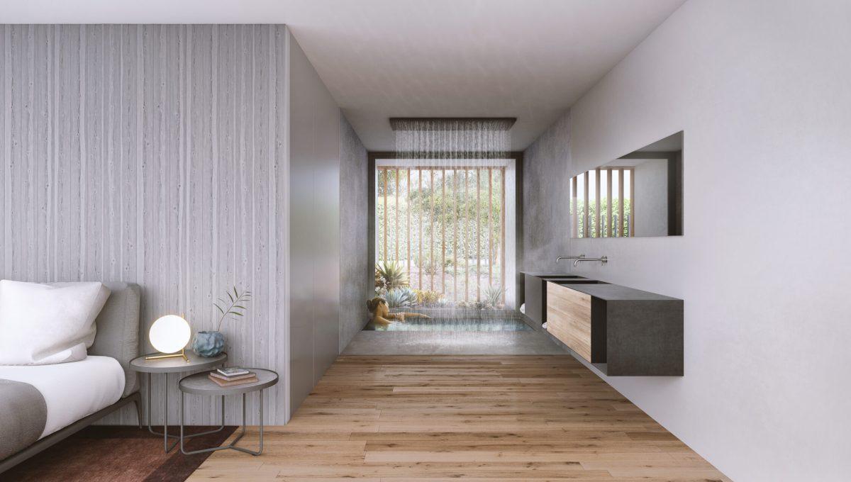 Imagen dormitorio con ducha