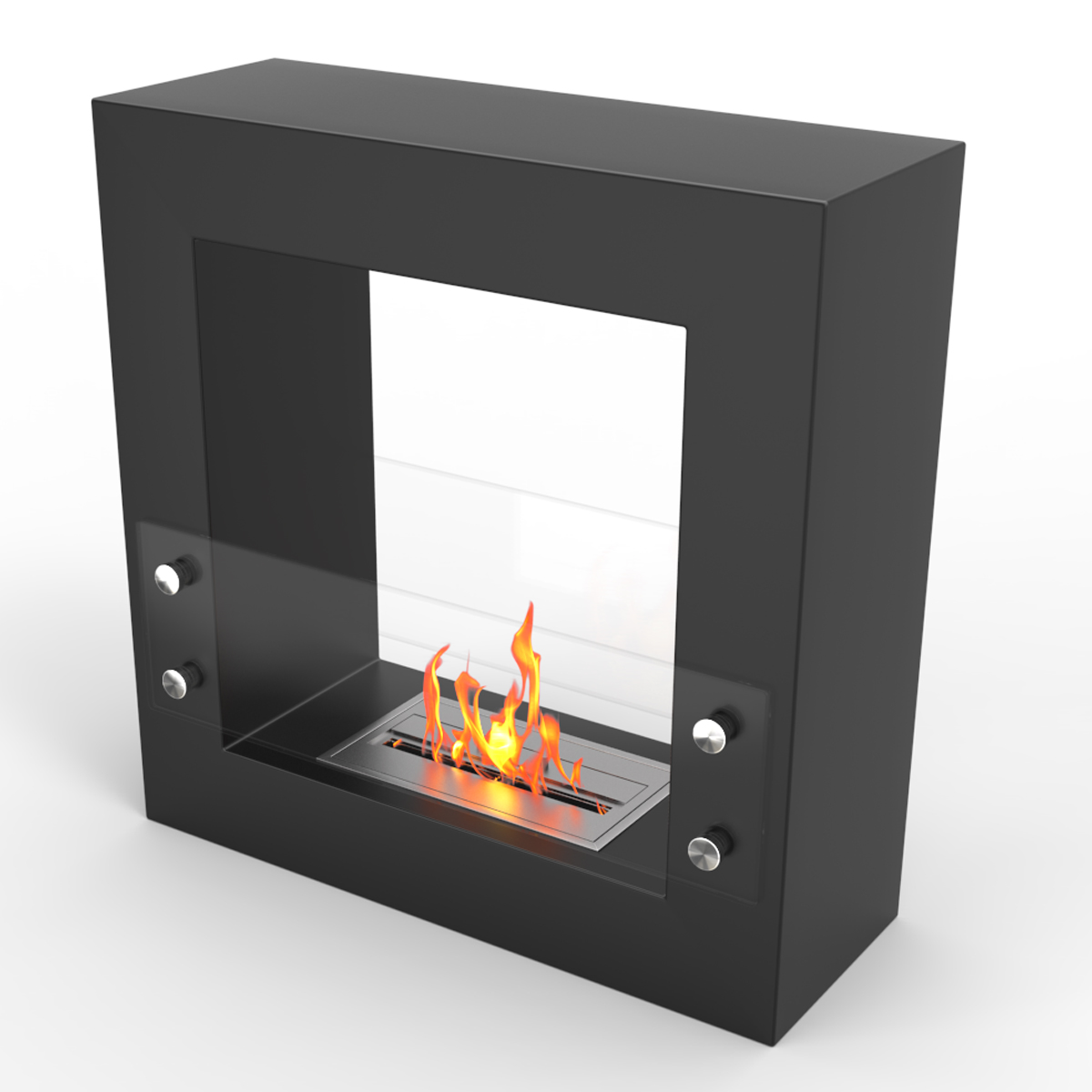 Dora Ventless Free Standing Ethanol Fireplace In Black